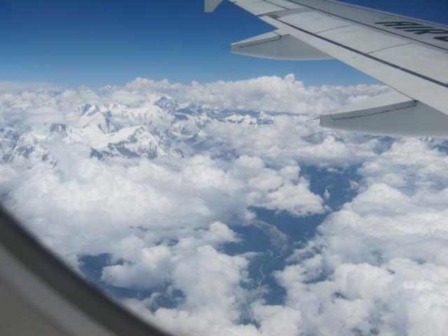 Blick auf die Himalaya-Gebirgskette - Good Bye Nepal