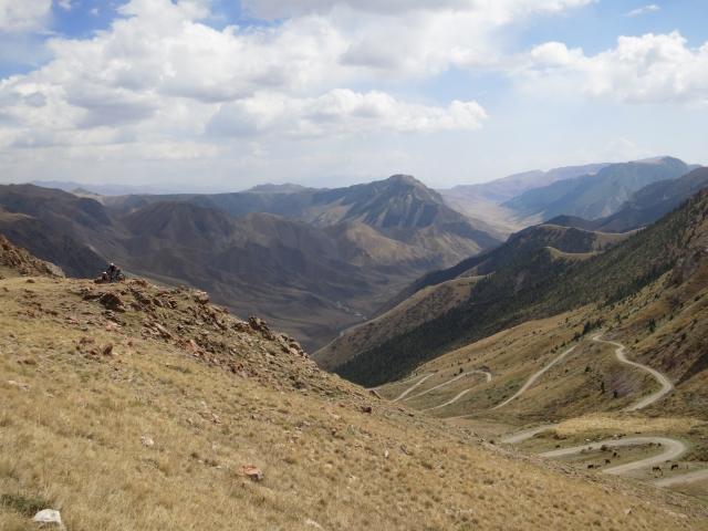 sieht nach einem guten Downhill aus ... was wir noch nicht wussten war dass es am Ende des Tales wieder auf die selbe Höhe hoch ging!