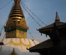Stupa am Affen-Tempel