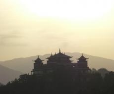 Kloster am Morgen