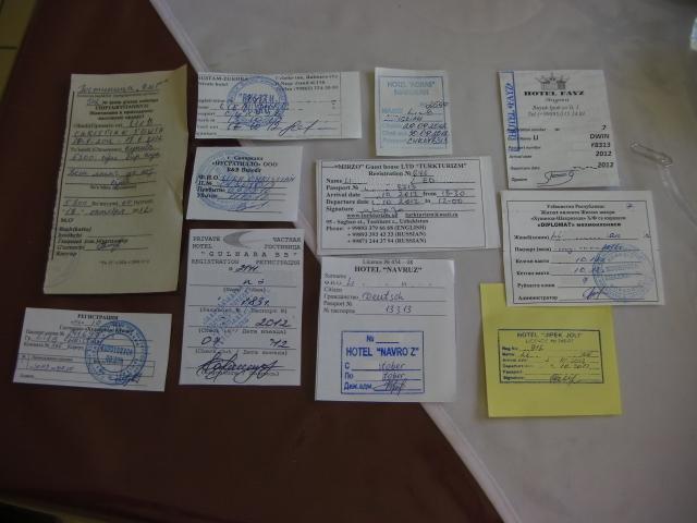 Registrierungsscheine